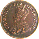 ½ Penny George V KM#13.1 (1923-1926) – avers