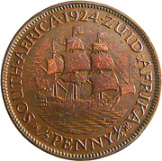 ½ Penny George V KM#13.1 (1923-1926) – revers