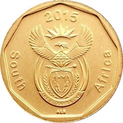 20 cents (en anglais - SOUTH AFRICA) -  avers