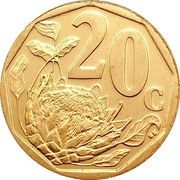 20 cents (en anglais - SOUTH AFRICA) -  revers