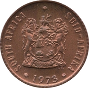 ½ cent (SOUTH AFRICA - SUID-AFRIKA) -  avers