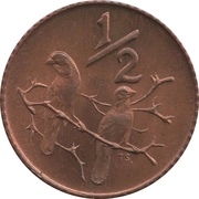 ½ cent (SOUTH AFRICA - SUID-AFRIKA) -  revers