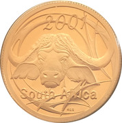 5 cents Buffle d'Afrique – avers