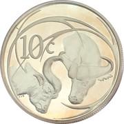10 cents (buffle) – revers