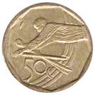 50 cents (Coupe du monde de cricket) – revers