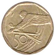 50 cents (Coupe du monde de cricket) -  revers