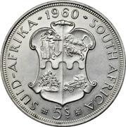 5 shillings - Elizabeth II (Union de l'Afrique du Sud) -  revers