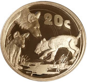 20 Cents (African Wild Dog) – revers