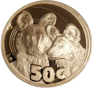 50 Cents (Africa Wild Dog) – revers