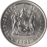5 cents (SUID-AFRIKA - SOUTH AFRICA) -  avers