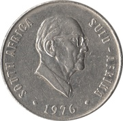 50 cents (Jacobus J. Fouché) -  avers