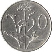 50 cents (Jacobus J. Fouché) -  revers