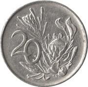 20 cents (Jacobus J. Fouché) -  revers