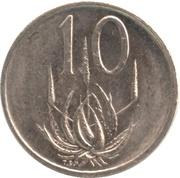 10 cents (Nicolaas J. Diederichs) -  revers