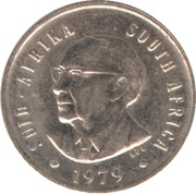 5 cents (Nicolaas J. Diederichs) -  avers