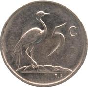 5 cents (Nicolaas J. Diederichs) -  revers