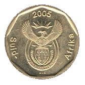 20 cents (en afrikaans - SUID AFRIKA) -  avers