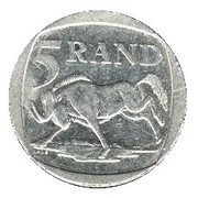 5 rand (en Zoulou - ININGIZIMU AFRIKA) -  revers