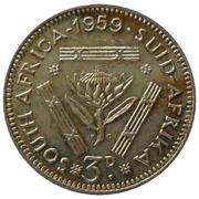 3 pence - Elizabeth II (1ere effigie) -  revers