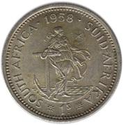 1 shilling - Elizabeth II (1ere effigie) -  revers