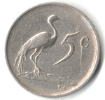 5 cents - Charles Swart (en Anglais - SOUTH AFRICA) -  revers