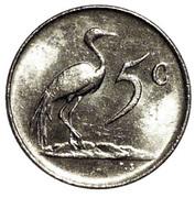 5 cents (Jacobus J. Fouché) -  revers