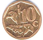 10 cents (en sepedi / sesotho - AFRIKA BORWA) -  revers