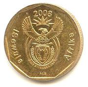 20 cents (en ndébélé - ISEWULA AFRIKA) -  avers