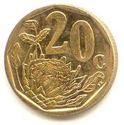 20 cents (en ndébélé - ISEWULA AFRIKA) -  revers