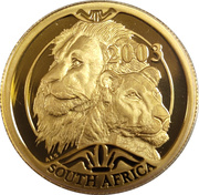 20 Rand / 1/4 Ounce - Natura - Lion – avers