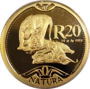 20 Rand / 1/4 Ounce - Natura - Lion – revers