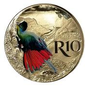 10 rand Touraco à huppe splendide (colorisé) – avers