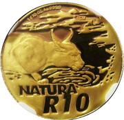 10 rand (Natura - Caracal) – revers