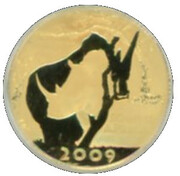 "2009 Natura Gold 1/10th Oz ""White Rhino"" – avers"