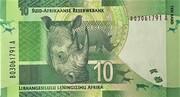 """10 Rand (""""Nelson Mandela"""" w/o Omron rings) – revers"""