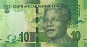 """10 Rand """"Nelson Mandela"""" with Omron rings – avers"""
