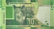 "10 Rand ""Nelson Mandela"" with Omron rings – revers"