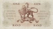 1 Rand (Afrikaans - English) – revers
