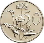 50 cents (SOUTH AFRICA - SUID-AFRIKA) -  revers
