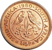 ¼ penny - Elizabeth II (1ere effigie) -  revers