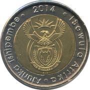5 rand (20 ans de liberté) – avers