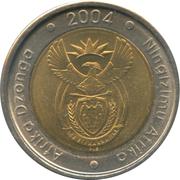 5 rand (en Tsonga et Swati - AFRIKA DZONGA - NINGIZIMU AFRIKA) -  avers