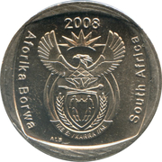 2 rand (en Tswana et Anglais - SOUTH AFRICA) -  avers