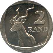 2 rand (en Tswana et Anglais - SOUTH AFRICA) -  revers