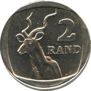 2 rand (en Ndébélé et Zoulou - ISEWULA AFRIKA) -  revers