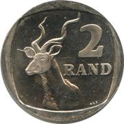 2 rand (en Zoulou et Xhosa - UMZANTSI AFRIKA) -  revers