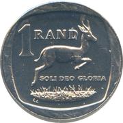 1 rand (en Ndébélé et Zoulou - ININGIZIMU AFRIKA) -  revers
