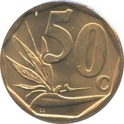 50 cents (en xhosa - UMZANTSI AFRIKA) -  revers