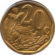 20 cents (en sepedi / sesotho - AFRIKA BORWA) -  revers