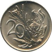 20 cents (Balthazar J. Vorster) -  revers